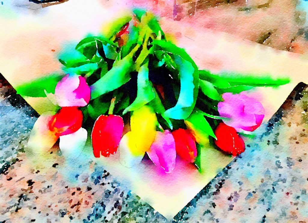 Week Six: Fresh Tulips from the Pike Place Market in Waterlogue