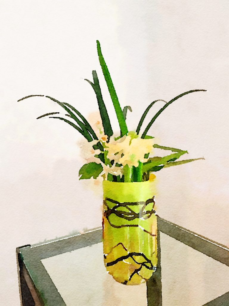 Week Four: Yellow Hyacinth in a Yellow and Black Vase