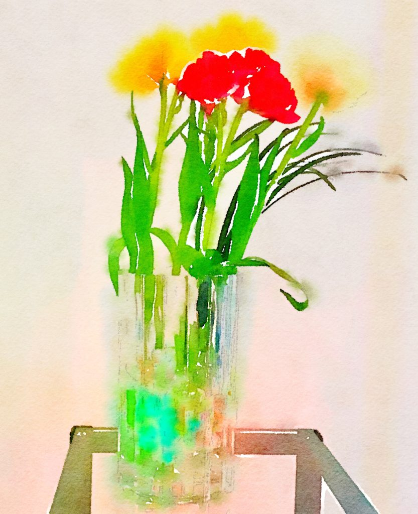 Week Four: Red and Yellow Tulips and Clear Marbles