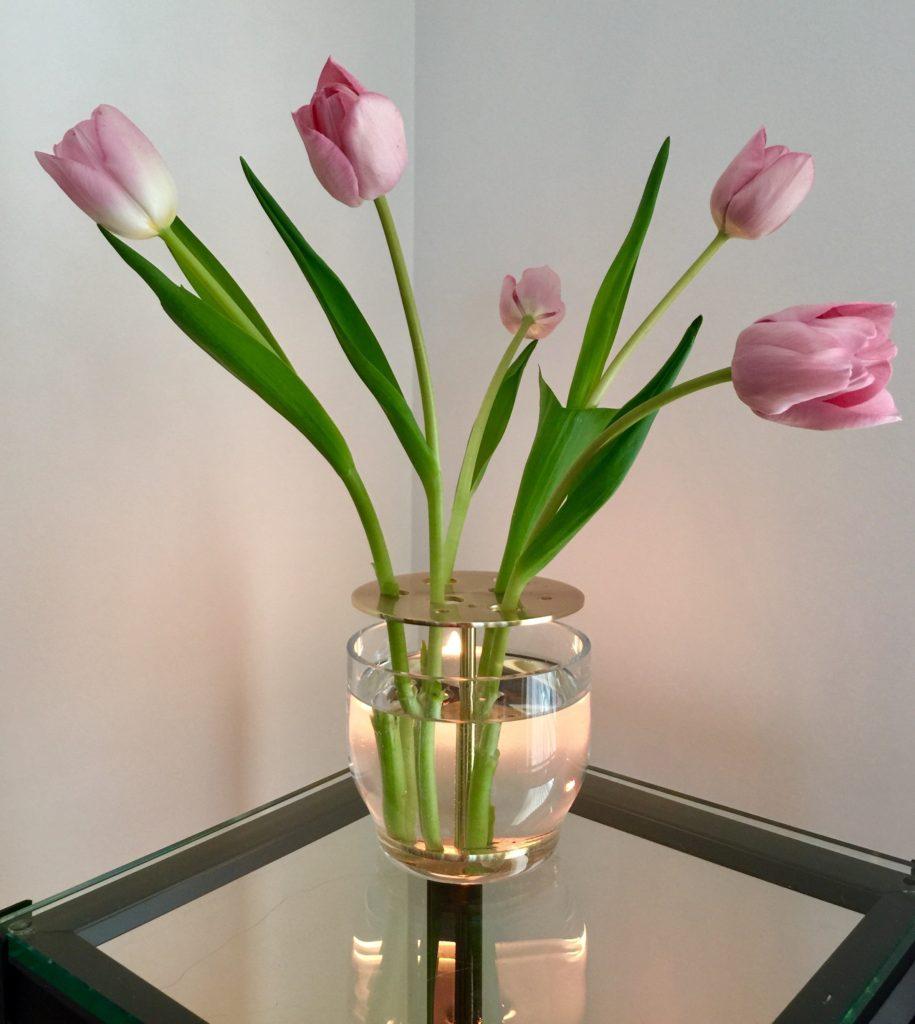 Ikebana Vase Raw Tulips