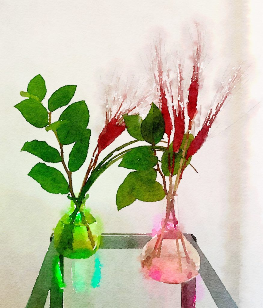 Week Fourteen: Red Feathers and Greenery Duo
