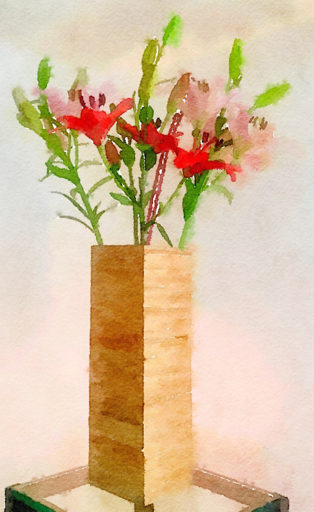 Week Thirteen: Four Lilies in a Bamboo Vase Version 2