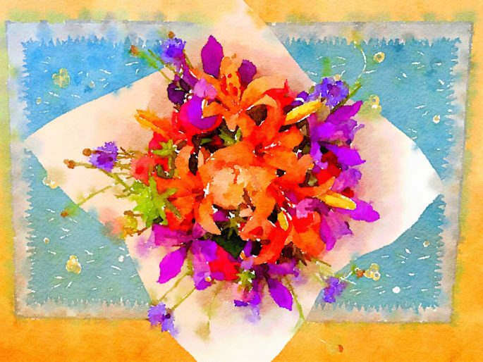 Week Eighteen: Fresh Pike Place Market Flowers in Waterlogue