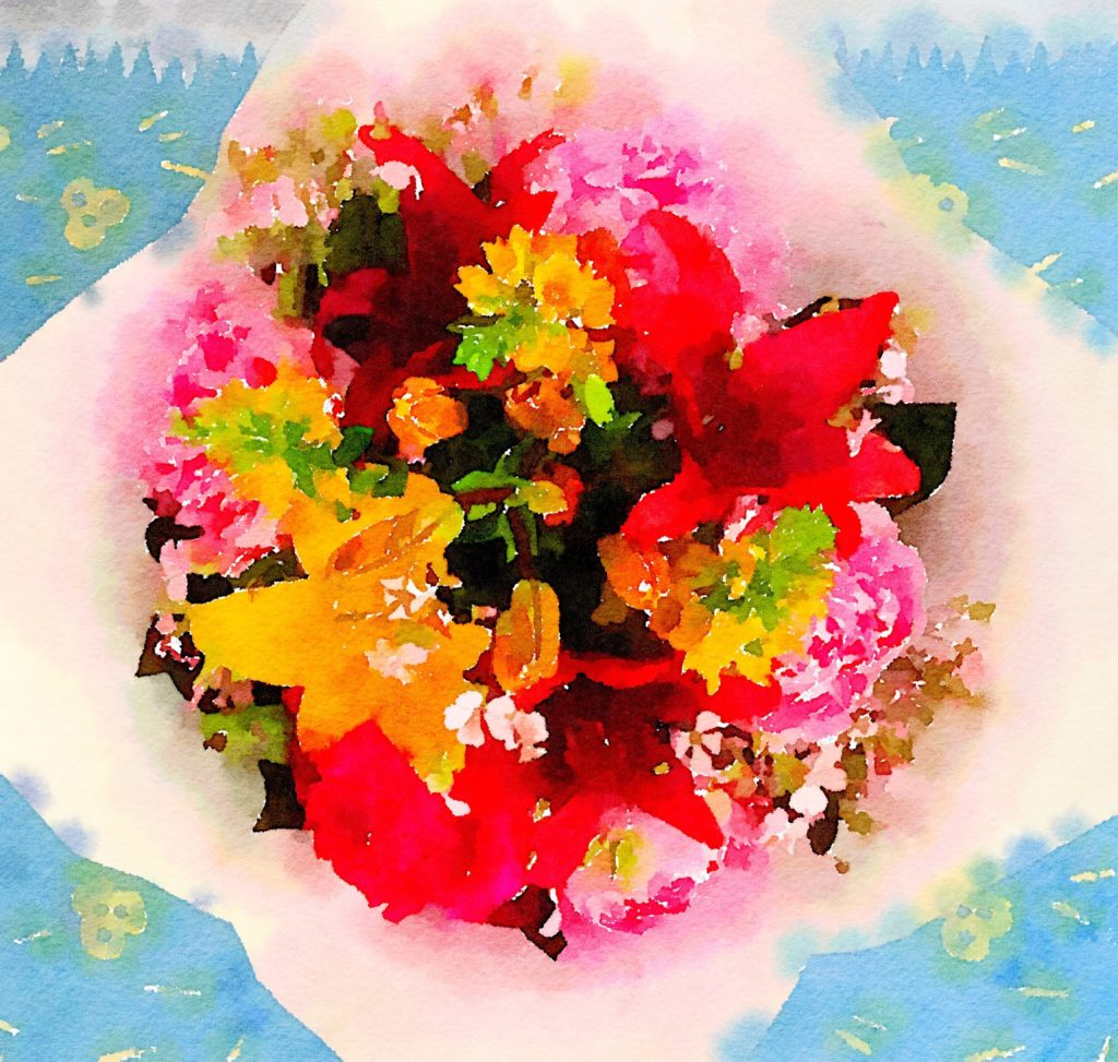Week Nineteen: Fresh Pike Place Market Flowers in Waterlogue