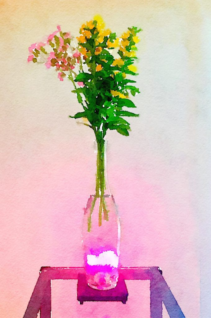 Week Nineteen: Fleurs de Prairie Vase with Pink and Yellow Flowers