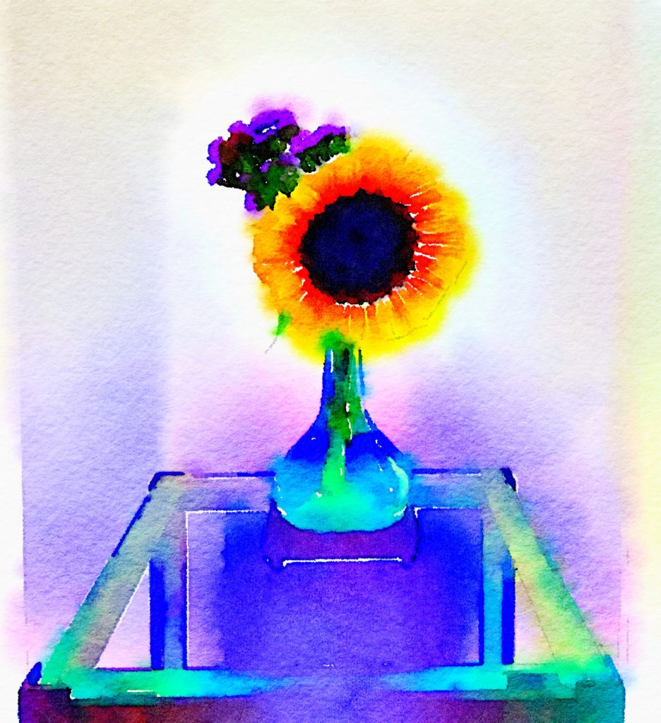 Week Twenty-Six: Vincent Van Gogh Sunflower in Blue Vase