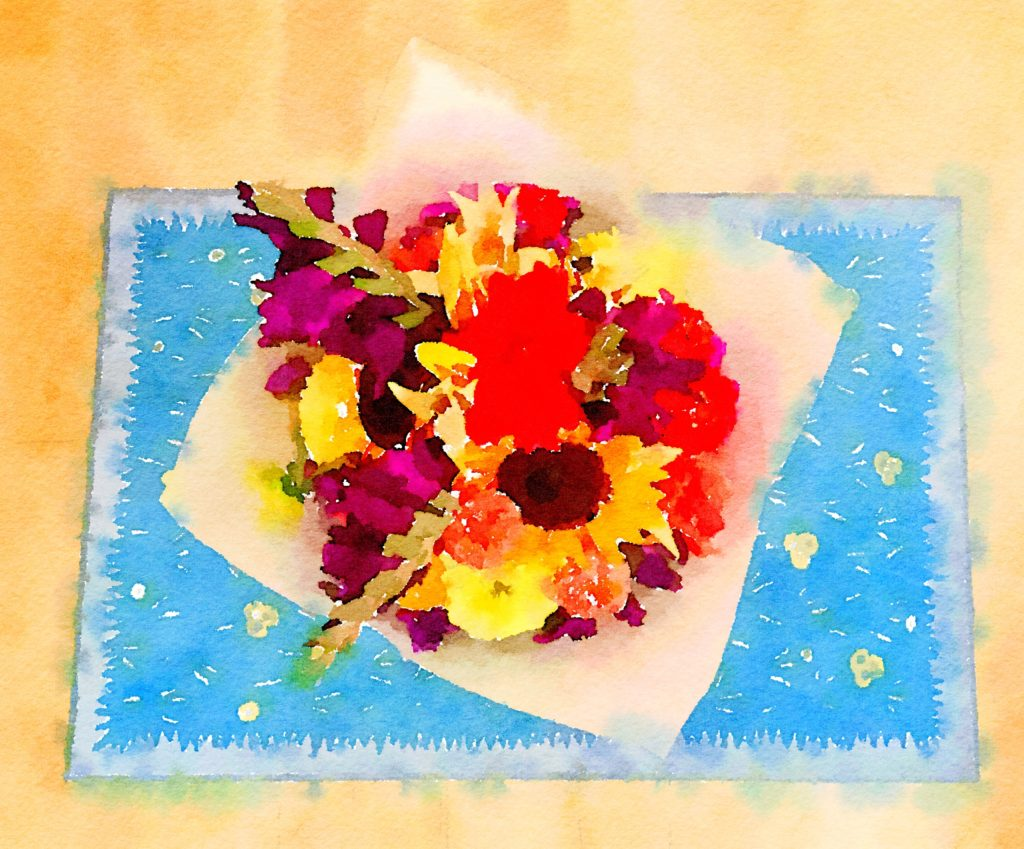Braiden Blossoms Week Thirty-One: Fresh Pike Place Market Flowers Painted in Waterlogue
