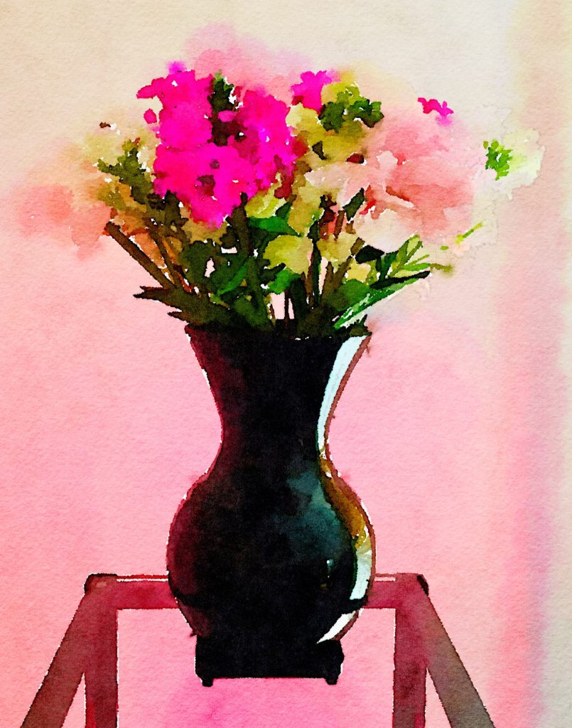Braiden Blossoms Week Twenty-Nine: Bounteous Bouquet in Bulbous Vase