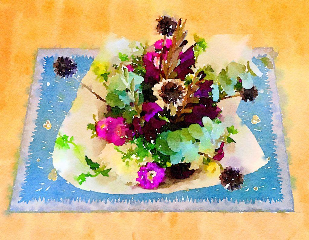 Braiden Blossoms Website Week Thirty-Five: Fresh Farmers Market Flowers Painted in Waterlogue