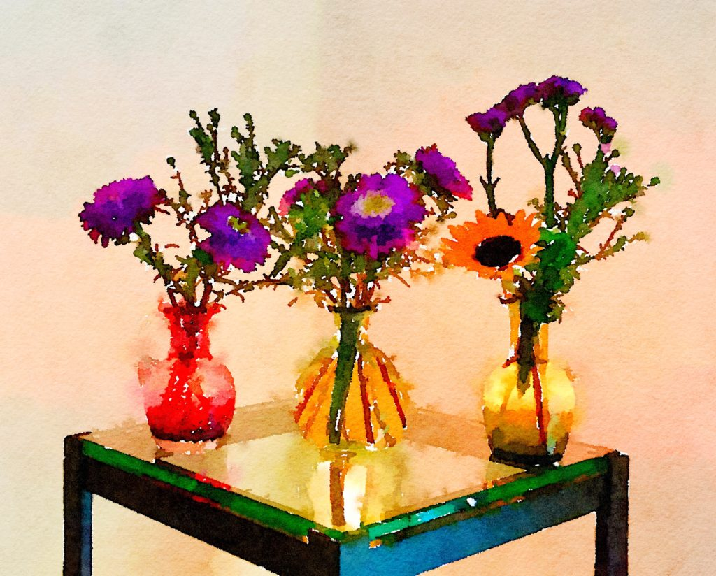 Braiden Blossoms Website Week Thirty-Five: Three Small Vases One Pink and Two Green