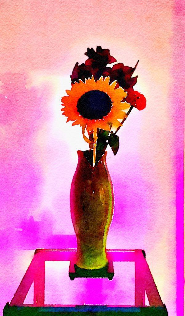 Braiden Blossoms Week Thirty-One: Dramatic Sunflower at Night