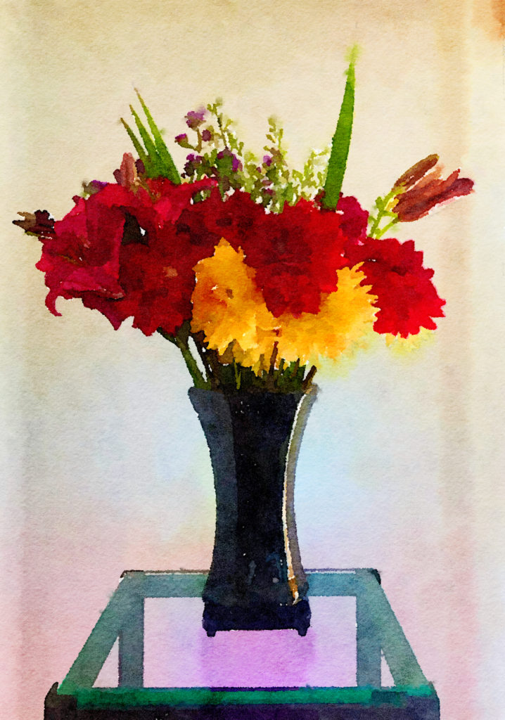 Braiden Blossoms Website Week Forty: Red and Yellow Dahlias and Scarlet Lilies