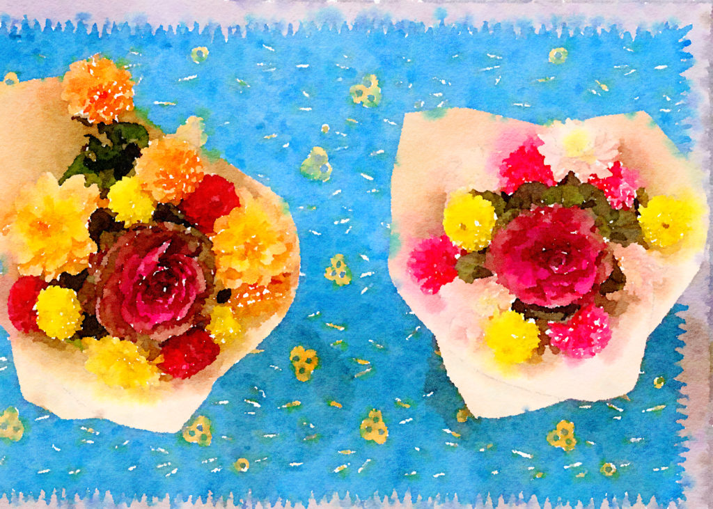 Braiden Blossoms Website Week Forty-Six: Fresh Pike Place Market Flowers Painted in Waterlogue