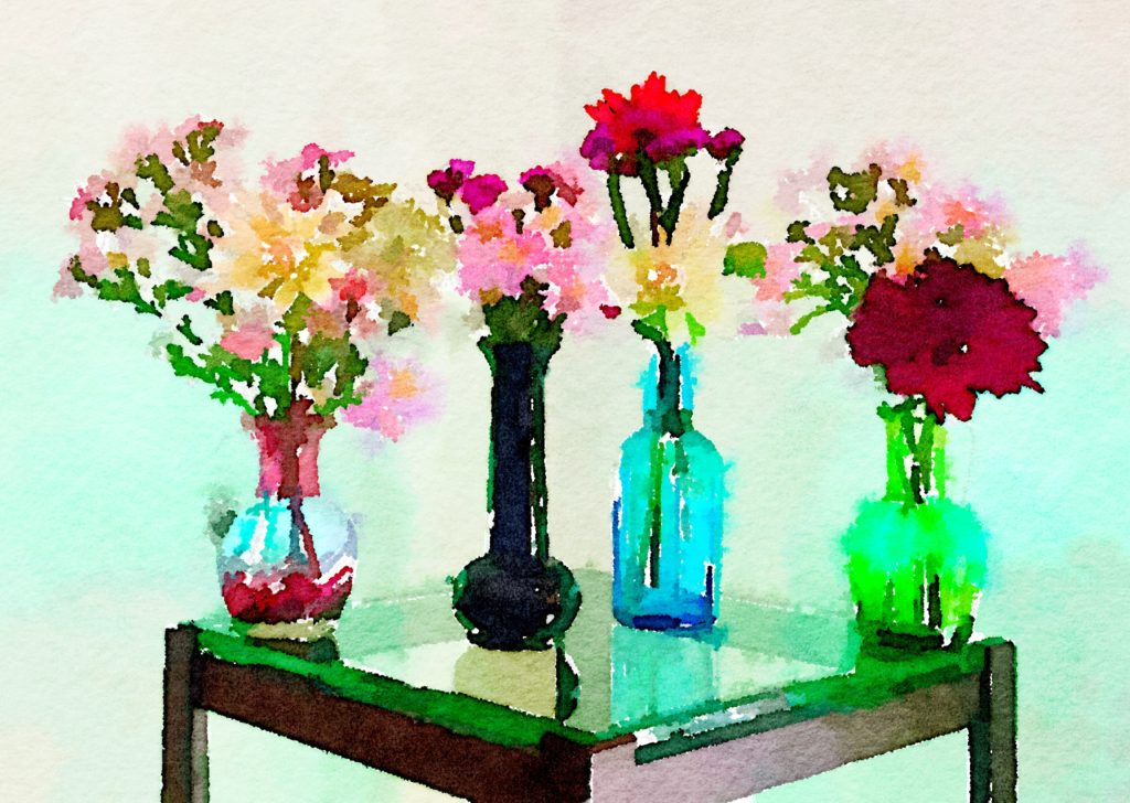 Braiden Blossoms Website Week Thirty-Eight: Four Small Vases
