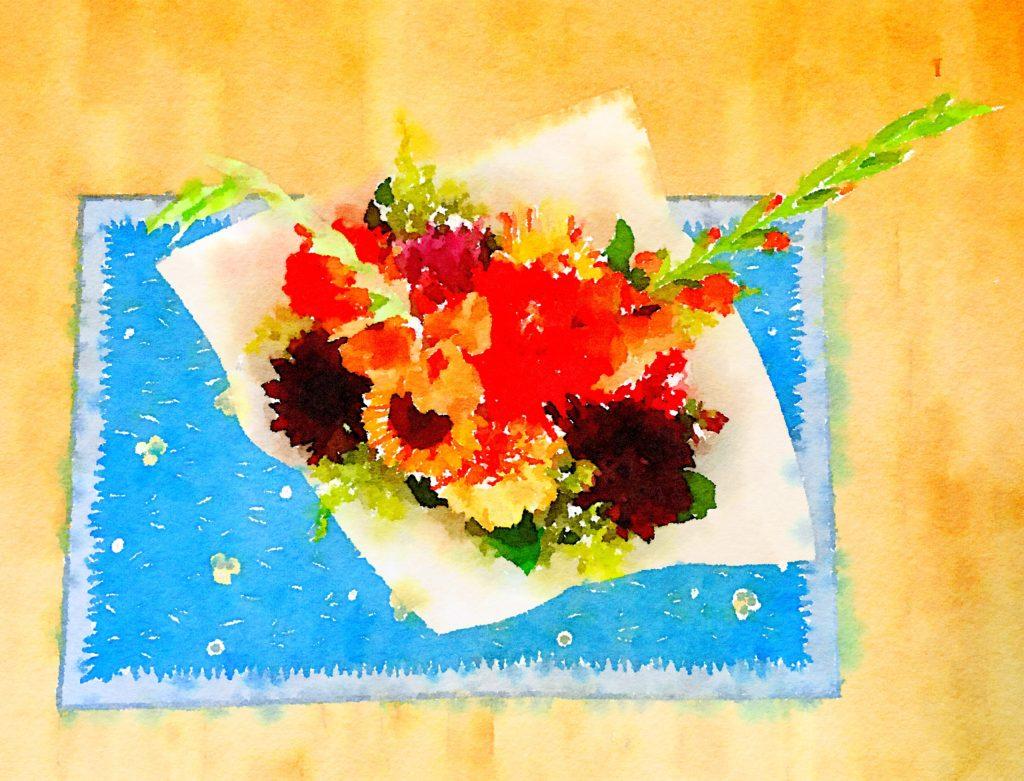Braiden Blossoms Website Week Thirty-Nine: Fresh Pike Place Market Flowers Painted in Waterlogue