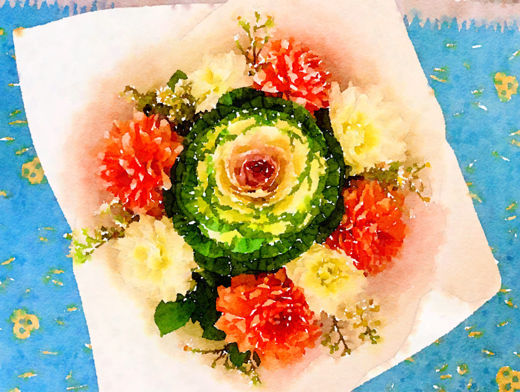 Braiden Blossoms Website Week Forty-Four: Fresh Pike Place Market Flowers Painted in Waterlogue