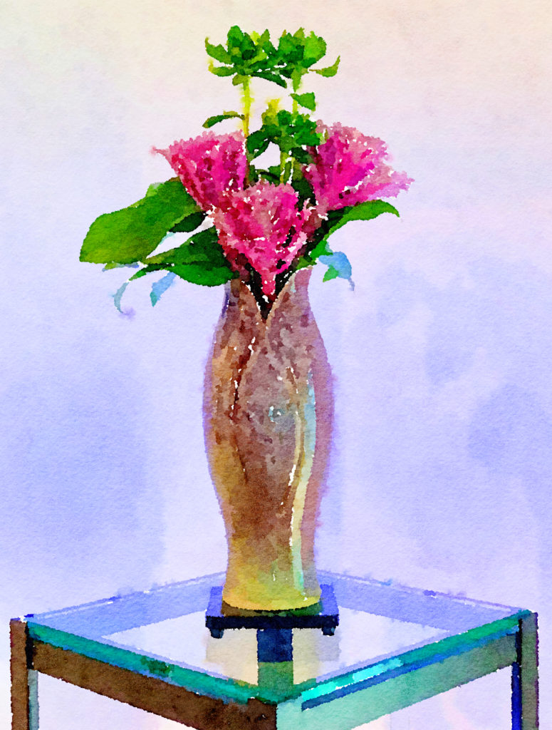 Braiden Blossoms Website Week Forty-Four: Small Purple Cabbage Flowers in a Lilac Ceramic Vase